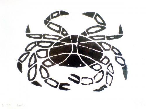 1 krab houtsnede (Kopie)