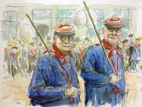 Twee van boerenploeg