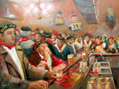 Aan de bar (De Kroon)